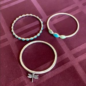 Pretty bangle set with firefly